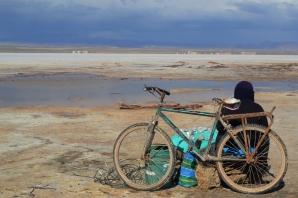 Vendedor de piedras preciosas, Salar de Uyuni