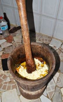 Masacote (plátano frito y queso)